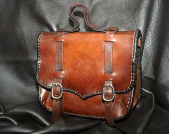 Leather Laptop Briefcase /  Backpack