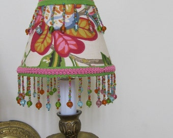 Whimsical and Colorful Chandelier Lamp Shade