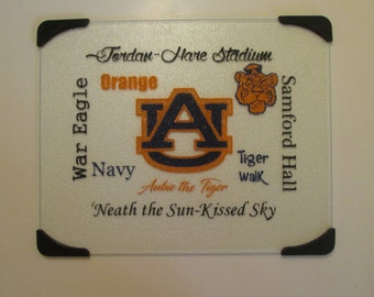 Auburn Glass Cutting Board