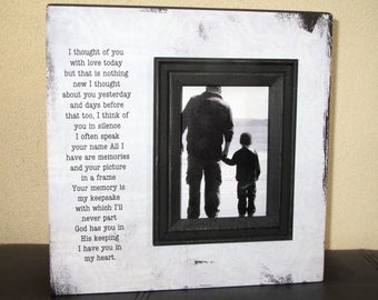 Sympathy Picture Frame Sign I thought of you today, but that is nothing new. Sympathy Gift Sympathy sign loss of loved one