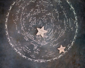 Custom Wedding Gift, Horoscope Print, Zodiac Print, Constellation Print, Astrology Print, Alternative Guest Book, Wedding Signing Board