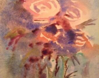 Misty Pink wildflowers