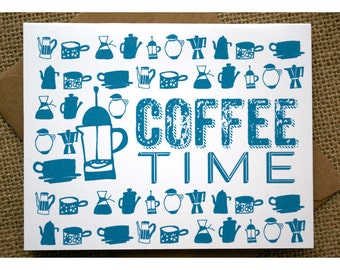 Coffee Time Thank You Notes - Coffee Graphics - For the Love of Coffee - Mugs and Coffee Pots - Thank You Cards - Thank You Notes