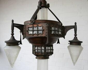 Jugendstil lamp-Modernist-designer lamp-steampunk-Captain Nemo-unique-Art Nouveau
