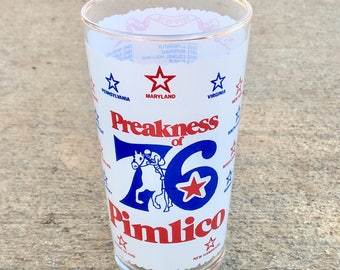 Vintage 1976 Preakness at Pimlico Glass