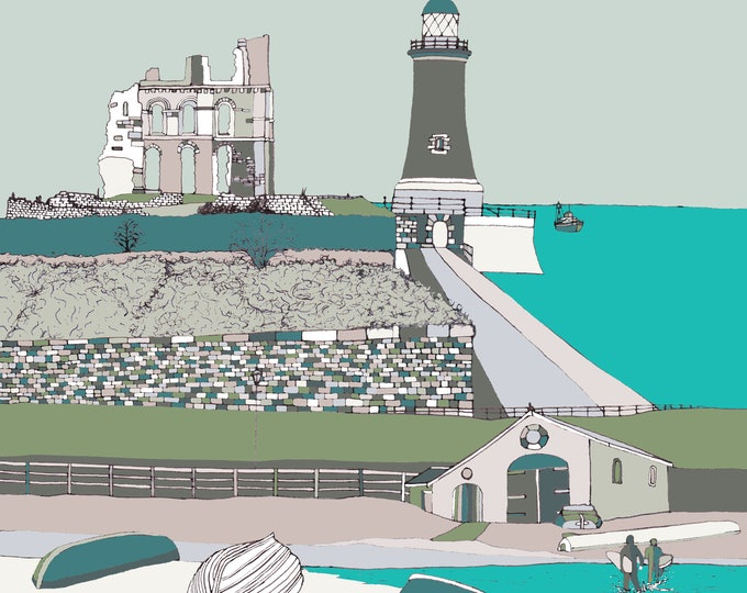Tynemouth - limited edition print Giclee print / 2 SIZES.