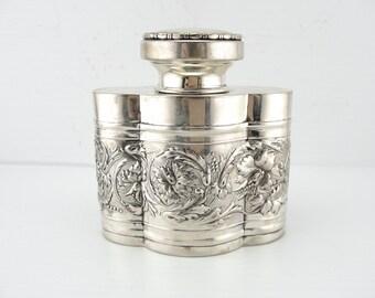 Finer Spirits: Antique Sterling Silver Decanter with EHC Monogram WPTTLA-R