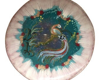 Krelabe Enamel on Copper Dish