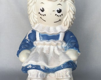 Raggedy Ann Toy Bank // Raggedy Ann and Andy // Vintage Toy Bank // Vintage Toys // Vintage Raggedy Ann and Andy (B13)