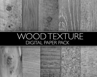 DIGITAL Wood Texture Paper Pack