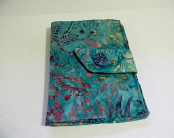 Turquoise Floral Batik Touch Cover