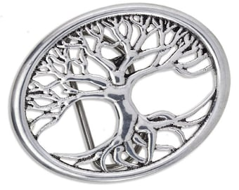 Belt Buckle - Tree of Life belt buckle-Hand Made and Design in UK