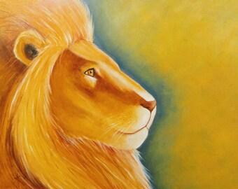 Lion profile - 16x20 limited prints