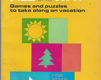 Fun and Play All the Way Vintage Game and Puzzle Book, C1961 (3 pages used)