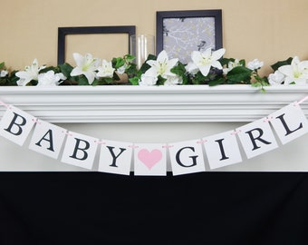 Baby Girl Banner, its a girl banner, baby shower banner, baby shower decorations, baby shower sign, baby girl sign, its a girl sign