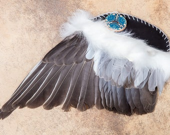 Wood Pigeon Smudge Fan - medium