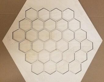 Settlers of Catan basic game board 1/4 X 23 1/2 x 23 1/2