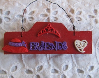 Red Hat Ladies Sign-Wall Hanging-Wall Decor-Gifts for her-Gifts for Women-Birthday Gift-Gifts for friends-Wreath decor