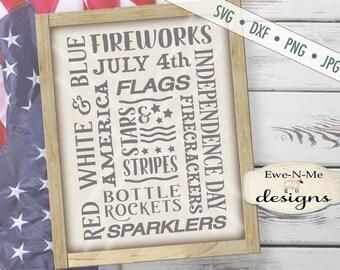 4th of July svg - patriotic svg - Fireworks SVG - Independence Day cut file - flag svg - July 4th svg - Commercial Use svg, dxf, png, jpg