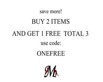 DISCOUNT COUPON: Buy 2 items and get 1 Free, TOTAL 3 ! Quantity Discount