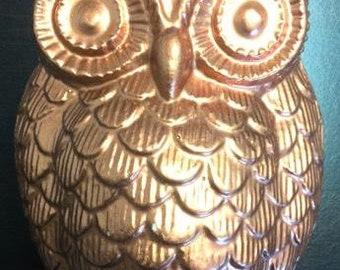 Copper Owl - Plaster