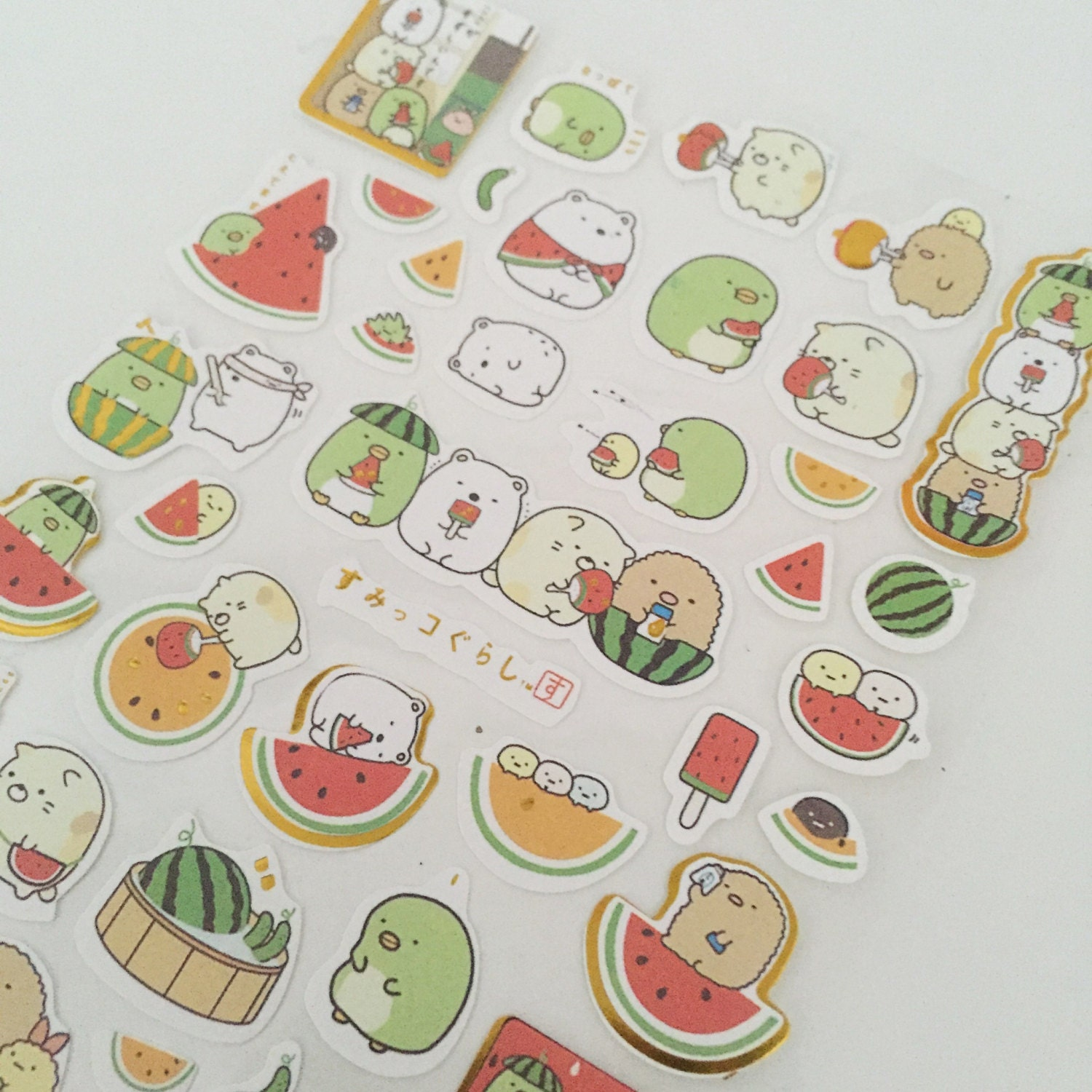 Watermelon Stickers Journals Planners Scrapbooking Cards