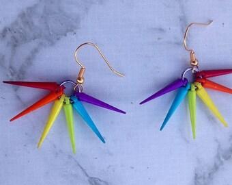 Rainbow Spike Earrings