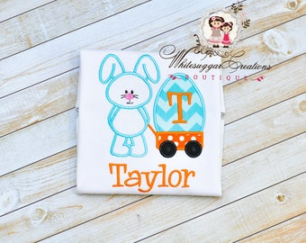 Boy Easter Shirt, Boy Easter Bunny Wagon Shirt, Baby Boy Easter Outfit, Custom Bunny Personalized shirt, Boys Easter Outfit, Bunny Shirt