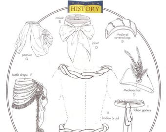 Butterick 4157 Misses' Historical Accessories Sewing Pattern, one size