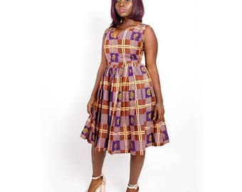 Zoya Pleated Audrey Hepburn Style  Fashion Vintage Midi Dress