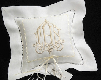 Personalized ring bearer pillow Ring pillow Wedding ring bearer pillow Monogrammed ring pillow jfyBride Style 6151