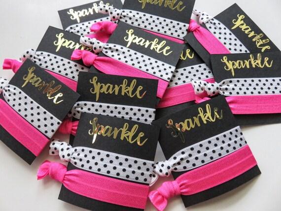 Kate Spade Party Theme Hair Tie Favors Gift Bag Elastic