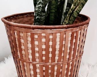 Rattan basket | Bamboo basket | Planter | Trashcsn