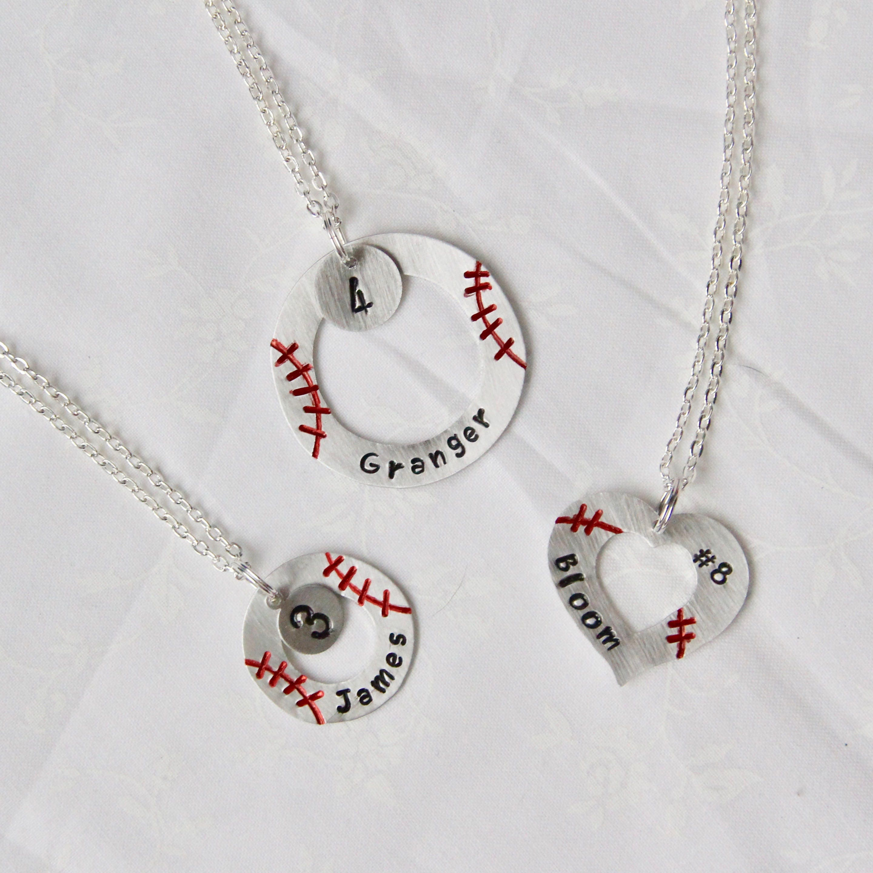 sterling baseball personalized limoges jersey pendant jewelry necklace silver