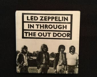 Vintage 1970's Led Zeppelin In Through The Out Door Pin/Button