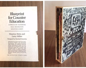 Hippy books etsy blueprint for counter education rare first edition 1970 complete with book three posters malvernweather Images