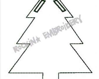Blank Christmas Tree Banner or Ornament- INSTANT DOWNLOAD