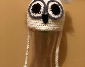 Snow owl hat
