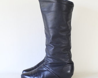 Vintage Black Leather Riding Boots Women's size 7