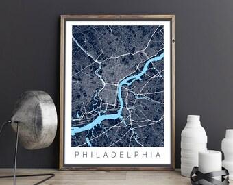 Philadelphia Map / Philadelphia Poster / Map Art / Philadelphia / Philadelphia Print / Philadelphia Map Art / City Map