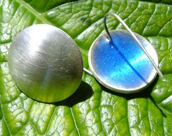 Silver and resin earrings, Customisable earrings