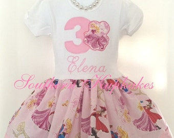 Aurora Sleeping Beauty Disney Princess Inspired Twirl Birthday Dress Custom Boutique Pageant Party All Sizes Ages Second Third Pretty Pink