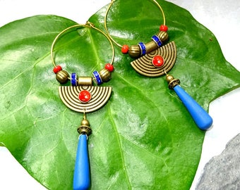 Earrings handmade metal hoops collection the bronzes ancient Egypt Egyptians snake