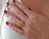 18K Ring, 14K Yellow Gold...