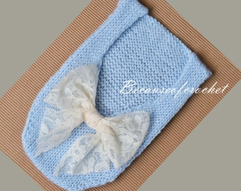 PDF Knitting PATTERN for beginners - Newborn Baby Romper. Size 0 months. Knitted with straight needles. Written in US terms