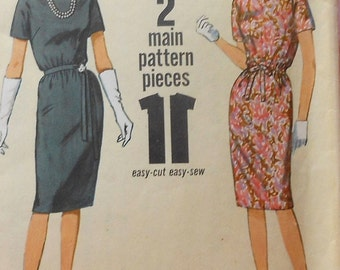 Vintage Dress Sewing Pattern Simplicity 5542 Size 12