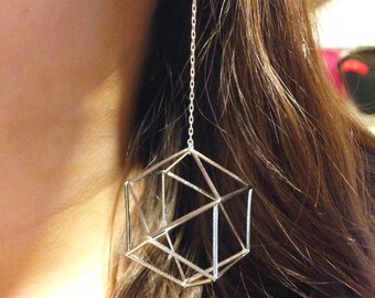 Cuboctahedron Earrings