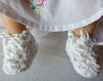 Lace Baby Booties  -  Weddings and other Special Occasions