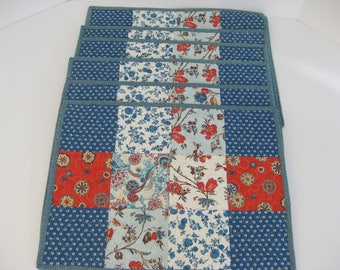 how to make patchwork quilted placemats