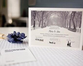 Engagement invite - wedding invite - DIY wedding - printable